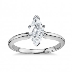 14Kt Gold 1 3/5ct TDW Diamond GIA Certified Marquise-cut Diamond Engagement Ring - Handcrafted By Name My Rings™