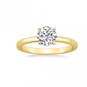 Gold 5/8ct TDW GIA Certified Round-cut Diamond Engagement Ring - Handcrafted By Name My Rings™