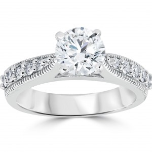 White Gold 1 7/8 ct Diamond Clarity Enhanced Engagement Ring - Handcrafted By Name My Rings™