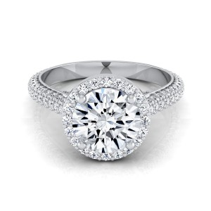 White Gold 1 7/8ct TDW Diamond Pave IGI-certified Engagement Ring - Handcrafted By Name My Rings™