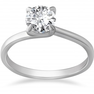 White Gold 1ct TDW Clarity Enhanced Diamond Solitaire Engagement Ring - Handcrafted By Name My Rings™