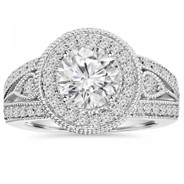 White Gold 2 3 4ct TDW Clarity Enhanced Diamond Engagement Ring -  Handcrafted By Name My Rings™ 9cf3960057