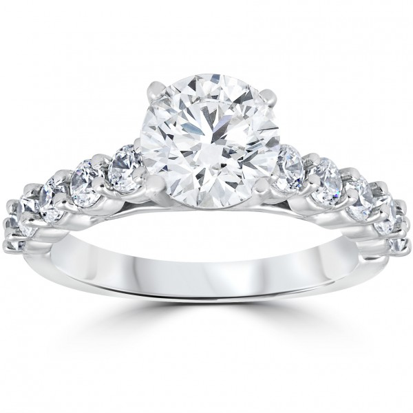 White Gold 2CT TDW Diamond Clarity Enhanced Engagement Ring - Handcrafted  By Name My Rings™ 095e328c6