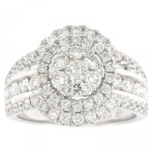 White Gold 2ct TDW Diamond Engagement Ring - Handcrafted By Name My Rings™
