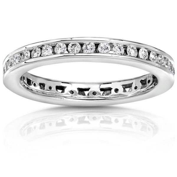 White Or Gold 1 2ct Tdw Round Diamond Wedding Band Handcrafted By Name My Rings