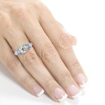 Platinum 1 1/2ct TDW Old Mine Cut Cushion Diamond Antique Ring - Handcrafted By Name My Rings™