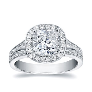 White Gold 2ct TDW Cushion-cut Diamond Ring - Handcrafted By Name My Rings™