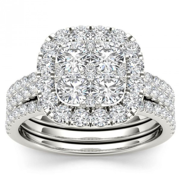 round ct tw halo engagement rings ring diamond products white gold