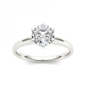 White Gold 1ct TDW Diamond Classic Engagement Ring - Handcrafted By Name My Rings™