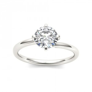 White Gold 1ct TDW Diamond Solitaire Ring - Handcrafted By Name My Rings™