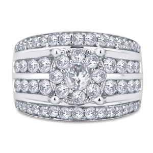 White Gold 3ct TDW Diamond Ring - Handcrafted By Name My Rings™
