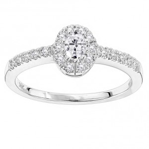 Gold 1/2ct TDW Diamond Unique Engagement Ring - Handcrafted By Name My Rings™
