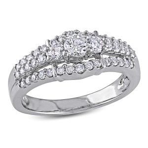 White Gold 4/5ct TDW Diamond Engagement Ring - Handcrafted By Name My Rings™