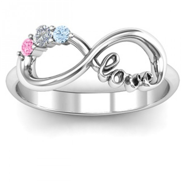 7be397d47842b Personalised Customised Infinity Promise Ring With Birthstone Infinity Love  Ring - Handcrafted By Name My Rings™