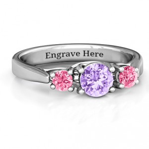 Personalised 3Stone Graduated Ring - Handcrafted By Name My Rings™