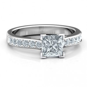 Personalised Janelle Princess Cut Ring - Handcrafted By Name My Rings™