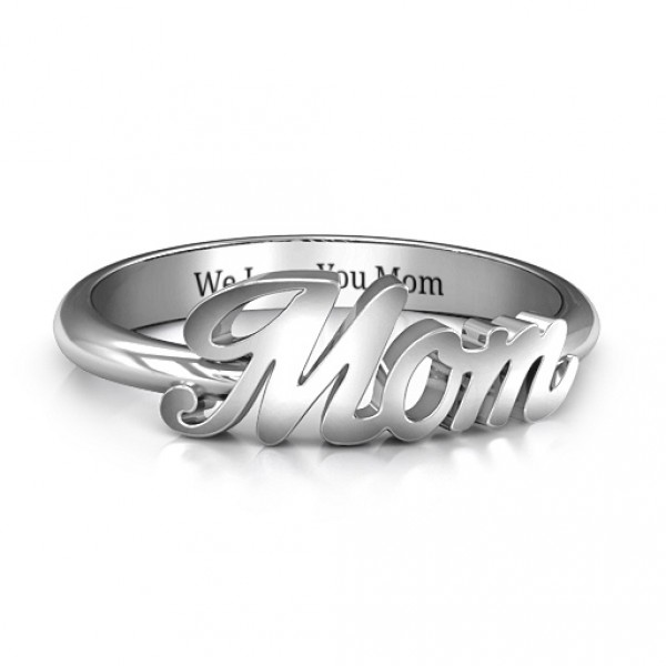 rings sterling angel ring engraved silver personalised name lisa