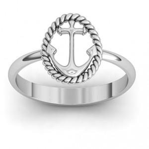 Personalised Anchor Ring - Handcrafted By Name My Rings™