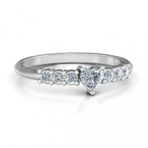 Personalised Beaming with Love Ring - Handcrafted By Name My Rings™