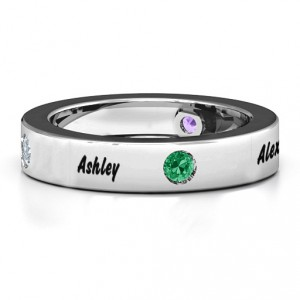 Personalised Circular Band 25 Stones Ring - Handcrafted By Name My Rings™