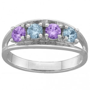 Personalised Classic 26 Gemstones Ring - Handcrafted By Name My Rings™