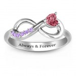 Personalised Infinity In Love Ring with Accents - Handcrafted By Name My Rings™