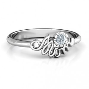 Personalised Mom's Reminder Ring - Handcrafted By Name My Rings™