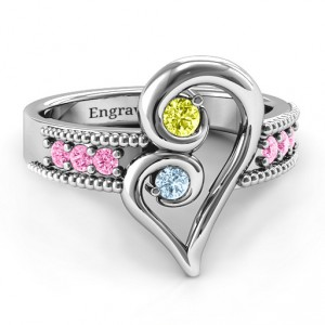 Personalised Nesting Love Ring - Handcrafted By Name My Rings™