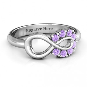 Personalised Precious Infinity Ring - Handcrafted By Name My Rings™