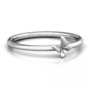Personalised Stackr Soaring Butterfly Ring - Handcrafted By Name My Rings™