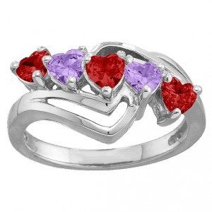 Personalised Starburst Heart Ring - Handcrafted By Name My Rings™