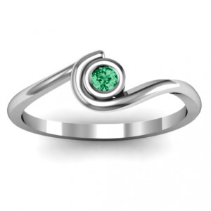 Personalised Curved Bezel Ring - Handcrafted By Name My Rings™