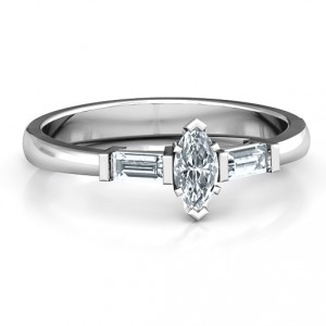 Personalised Marquise Cut Love Ring - Handcrafted By Name My Rings™