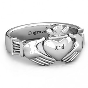 Personalised Men's Classic Celtic Claddagh Ring - Handcrafted By Name My Rings™
