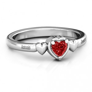 Personalised Triple Heart Ring - Handcrafted By Name My Rings™