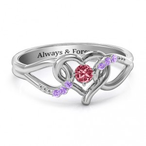 Personalised You Have My Heart Ring with Accents - Handcrafted By Name My Rings™