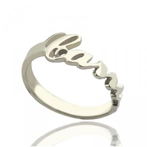 Personalised Carrie Name Rings Gift - Handcrafted By Name My Rings™