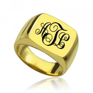 Personalised Custom Monogram Signet Ring - Handcrafted By Name My Rings™