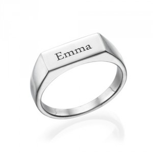 Personalised Engraved Signet Ring - Handcrafted By Name My Rings™