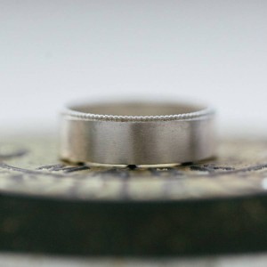 Personalised Mens Decorated Wedding Ring - Handcrafted By Name My Rings™