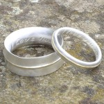 Personalised Thin Ring With Detail - Handcrafted By Name My Rings™
